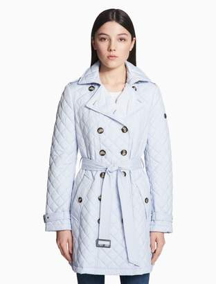 Calvin Klein double breasted quilted trench coat