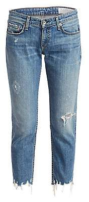 Rag & Bone Women's Dre Low-Rise Distressed Slim Boyfriend Jeans