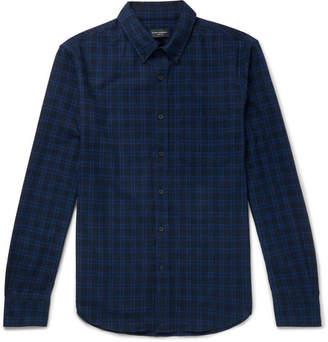 Club Monaco Button-Down Collar Checked Brushed-Cotton Shirt