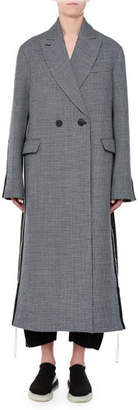 Stella McCartney Racer-Side Check-Front Oversized Coat