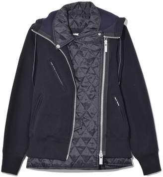 Sacai Sponge Sweat Jacket in Black/Black