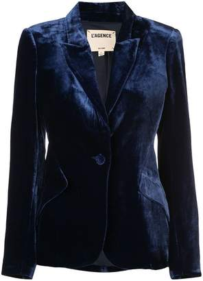 L'Agence single-breasted velvet blazer