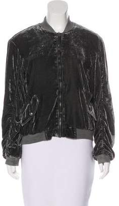Free People Lightweight Velvet Jacket
