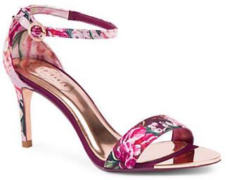 Ted Baker Mylli Floral Satin Sandals