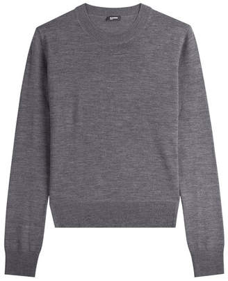Jil Sander Navy Layered Wool Pullover