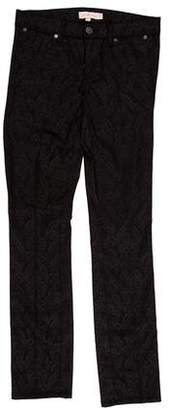 Tory Burch Honour Flat Front Mid-Rise Jeans w/ Tags