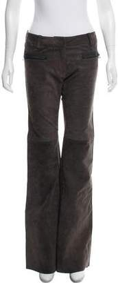 3.1 Phillip Lim Leather Mid-Rise Wide-Leg Pants w/ Tags