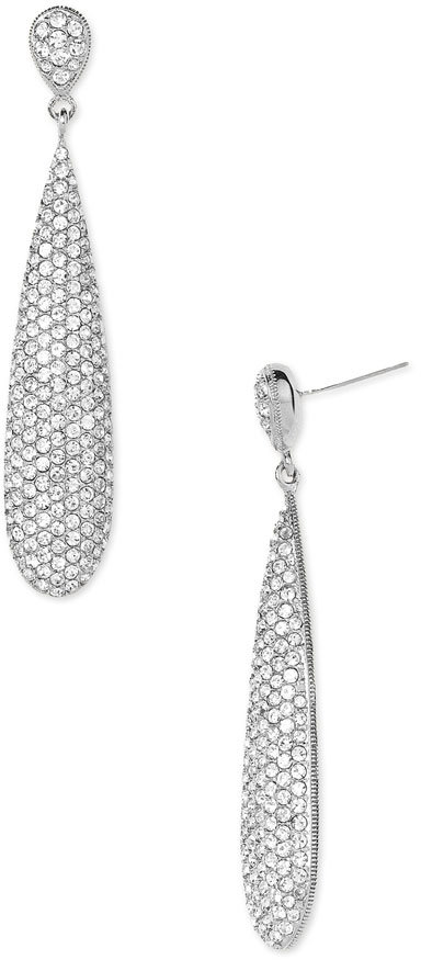 Nadri Pavé Crystal Linear Earrings