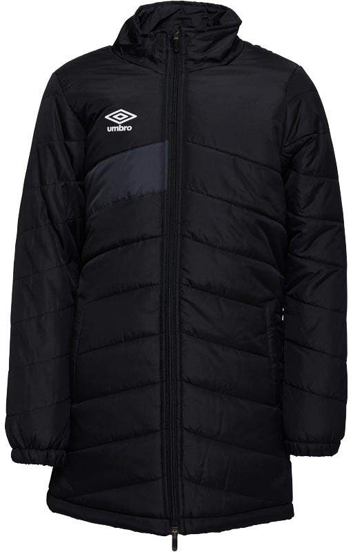 Junior Boys Teamwear Training Padded Long Jacket Black/Carbon