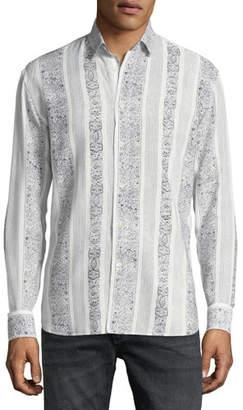 Saint Laurent Collection Yves Graphic-Stripe Sport Shirt