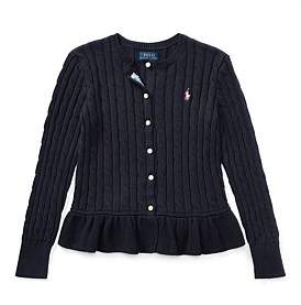 Polo Ralph Lauren Cable Cotton Peplum Cardigan(S-Xl)