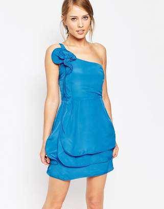 Oasis Ruffle One Shoulder Dress $98 thestylecure.com