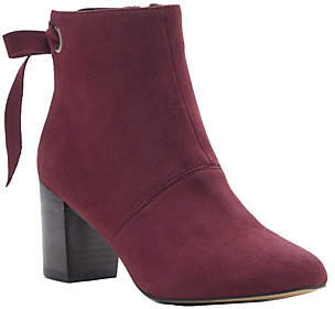 Sole Society Back-tie Leather Ankle Boots - Roxbury