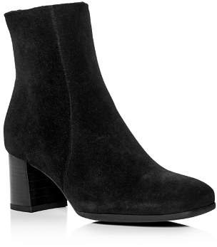 La Canadienne Women's Janella Waterproof Suede Block-Heel Booties