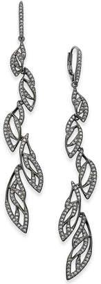 Danori Rose Gold-Tone Pave Vine Drop Earrings, Created for Macy's