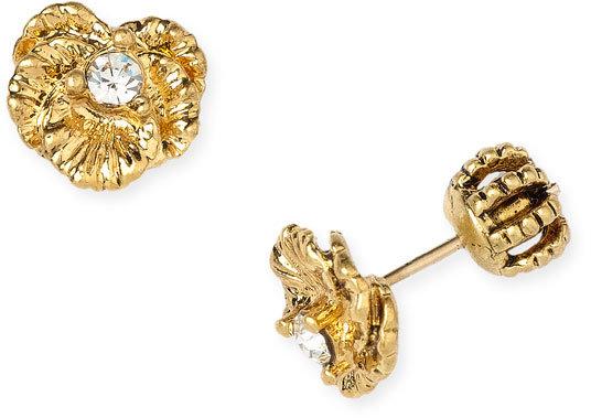 Juicy Couture 'Goldtone Flower' Stud Earrings