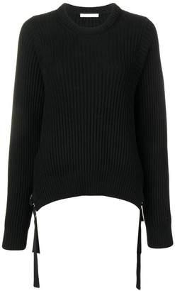 Helmut Lang knitted strap detailed jumper