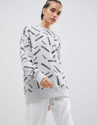 Ivy Park Scatter Logo Sweatshirt In Grey
