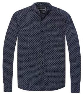 Scotch & Soda Geometric-Print Button-Down Shirt