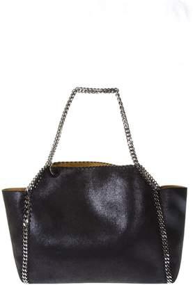 Stella McCartney Black Falabella Wide Tote Bag