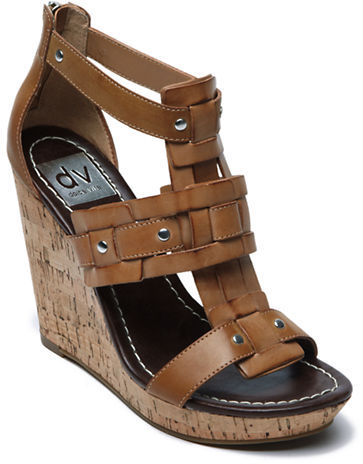 Dolce Vita Tex Leather Wedge Sandals