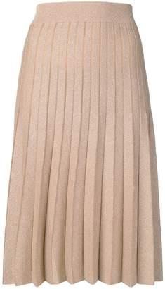 Twin-Set shimmer pleat4ed midi skirt