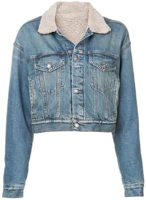 Marcelo Burlon County of Milan furry lining denim jacket