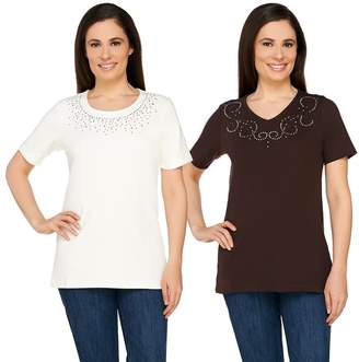 Factory Quacker Set of Two Sparkle and Shine T-shirts