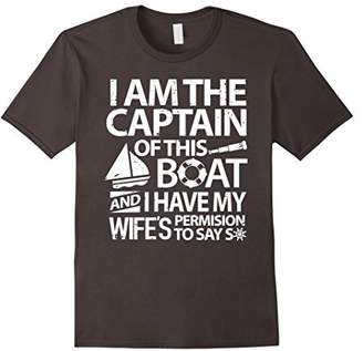 Captain T-Shirt I am the Boat Captain Proud Sailing Shirt