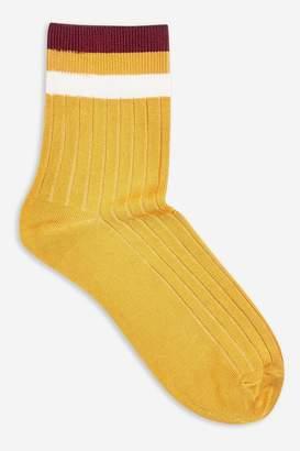 Topshop Slinky Ribbed 3 Stripe Socks