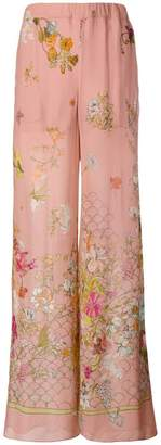 Semi-Couture Semicouture floral palazzo trousers
