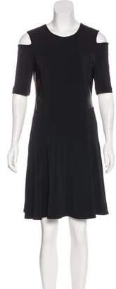 Rag & Bone Leather-Accented Mini Dress w/ Tags