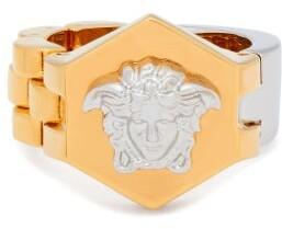 Versace - Medusa Band And Bracelet Link Ring - Mens - Gold