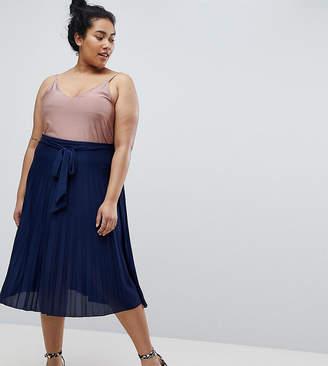 Asos Pleated Midi Skirt with Belt