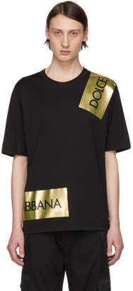 Dolce & Gabbana Black Tape Logo T-Shirt