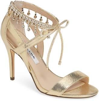 Nina Collina Jewel Ankle Tie Sandal