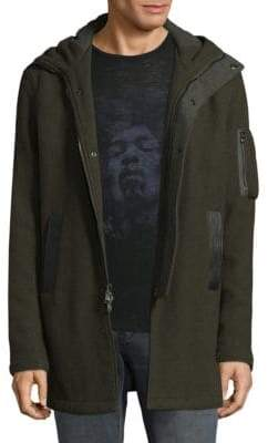 John Varvatos Textured Hooded Jacket