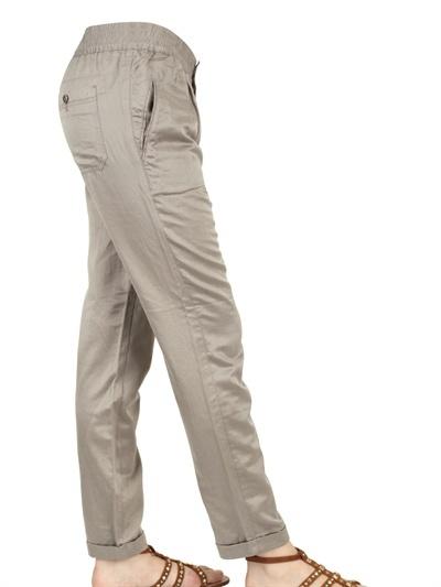 Closed Silk Cotton Satin Trousers