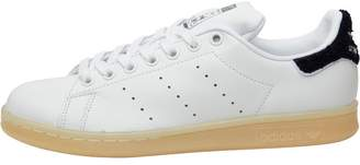 adidas Womens Stan Smith Chenille Trainers White/White/Collegiate Navy