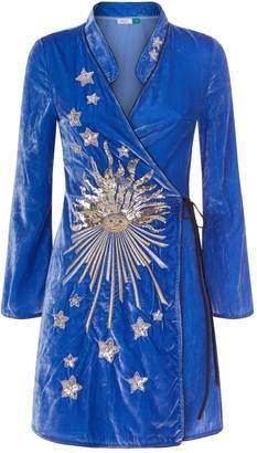 DAY Birger et Mikkelsen Rixo London Iris Velvet Wrap Dress