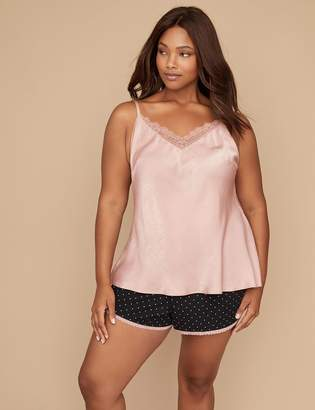 Lane Bryant Hammered Satin Sleep Cami with Lace
