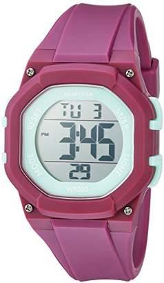 Armitron Sport Women's 45/7080PUR Light Green Accented Digital Chronograph Resin Strap Watch