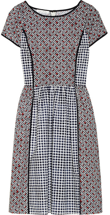 Oscar de la Renta Printed stretch-cotton dress