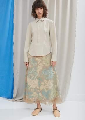 Acne Studios Jute Alpaca-Blend Floral Skirt