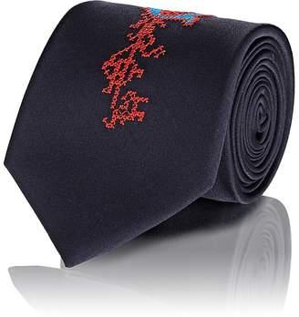 Alexander McQueen Men's Embroidered Silk Necktie