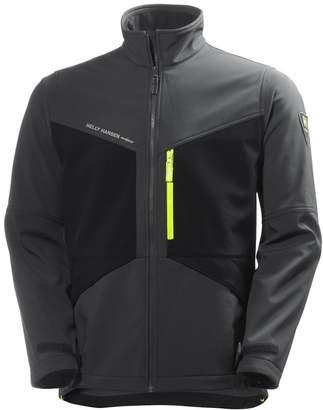 Helly Hansen Mens Aker Softshell Jacket (L, Slate Grey/Black)