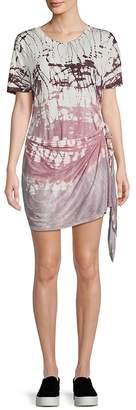 Young Fabulous & Broke Women's Printed Self-Tie Mini Dress