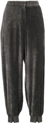 Stella McCartney velvet tailored joggers