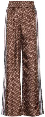 Burberry Monogram silk wide-leg pants