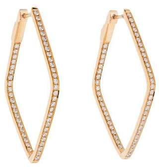 Anita Ko 18K Diamond Shaped Hoop Earrings